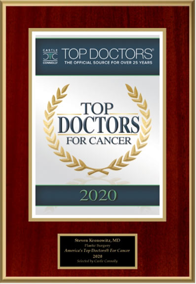 Top doctors for cancer awarded to Dr Kronowitz 2020